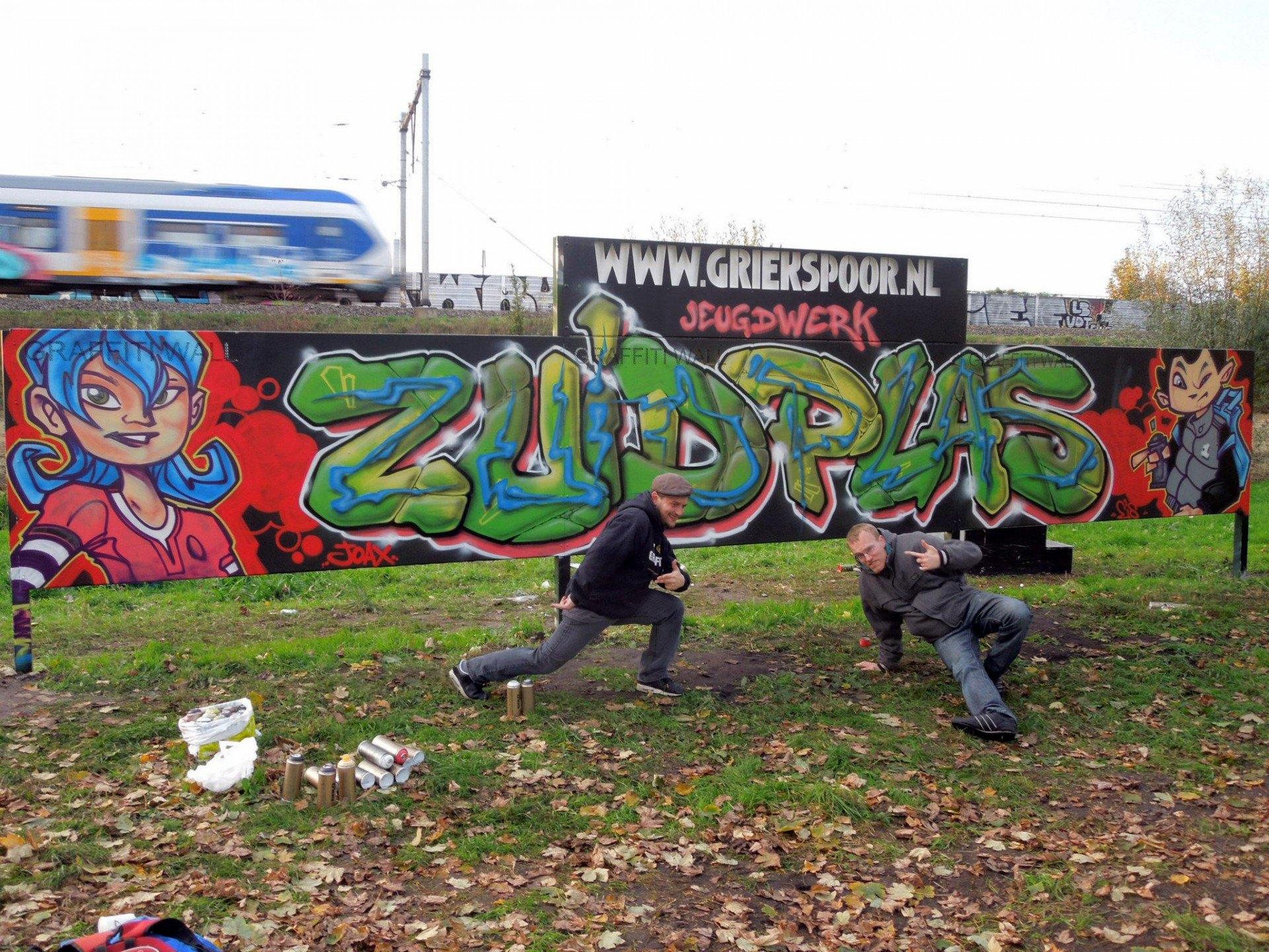 Jeugdwerk Zuidplas - Graffiti door Mathieu Lucas & Arend Maatkamp